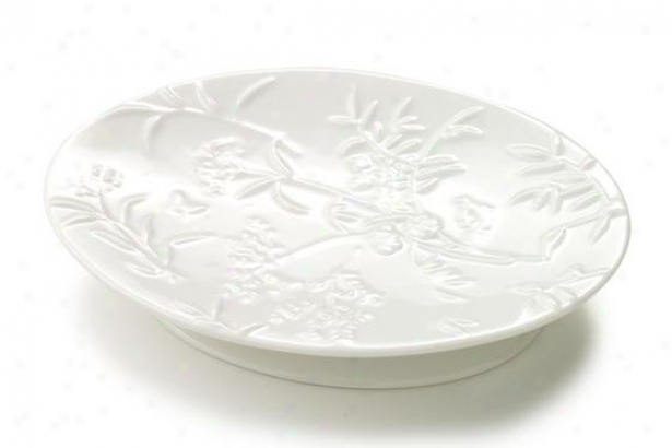 Floral Butterfly Soap Dish - Soap Dish, White Porcelain