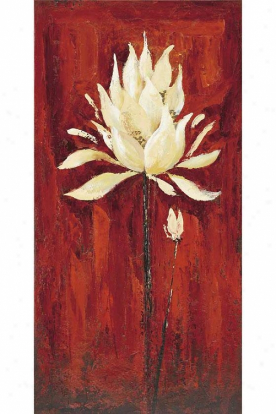 """floral Ii Canvas Wall Art - 47""""h X 23 """"w, Red"""
