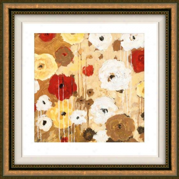 Floaer Dance Ii Framed Wall Art - Ii, Floated Gold
