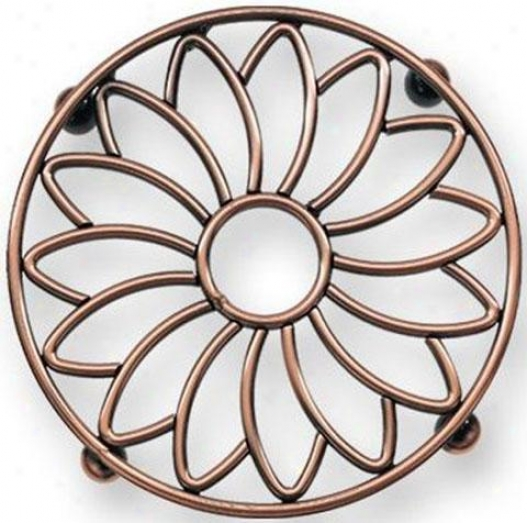"""flower Trivet - 8""""d, Copper"""