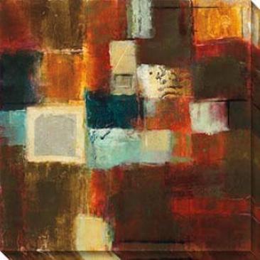 Flux Ii Canvas Wall Art - Ii, Brown