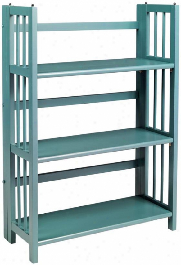 """folding/stacking Bo0kcase - 27.5""""w, Teal"""