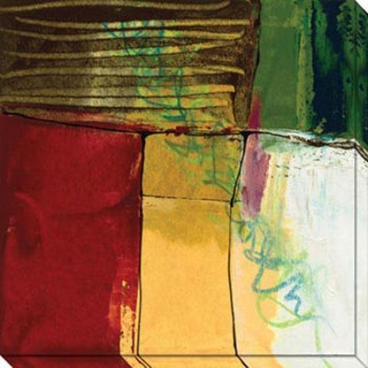 Foliage V Canvas Wall Art - V, Yellow