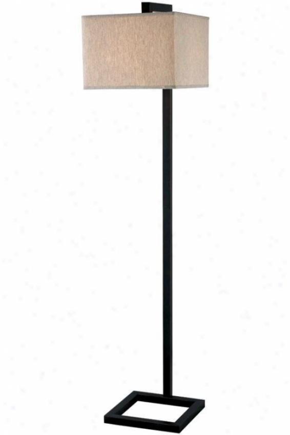 """""""four Square Floor Lamp - 64""""""""h, Bronze"""""""