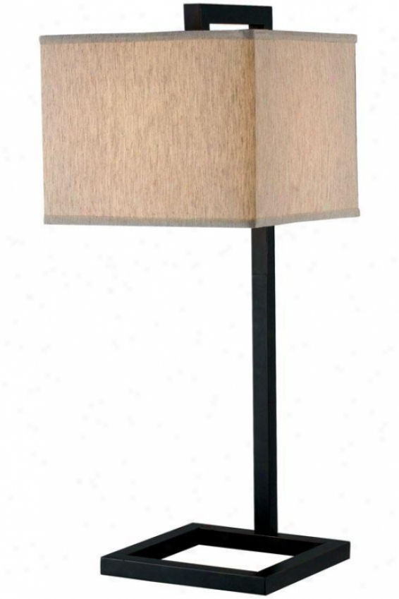 """four Square Table Lamp - 30""""h, Oil Rubbed Bronze"""