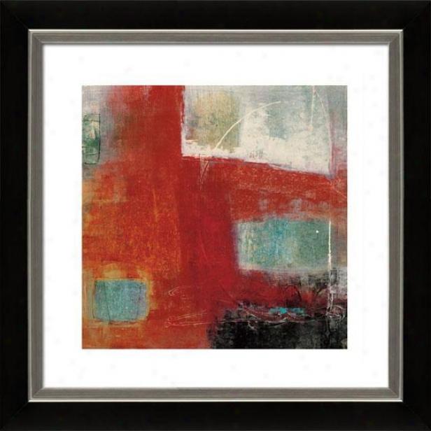 Four Squares Ii Framed Wall Art - Ii, Mtt Black/slvr