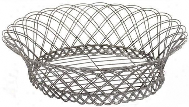 """francie Wire Basket - 4""""hx13""""w, Steel Gray"""