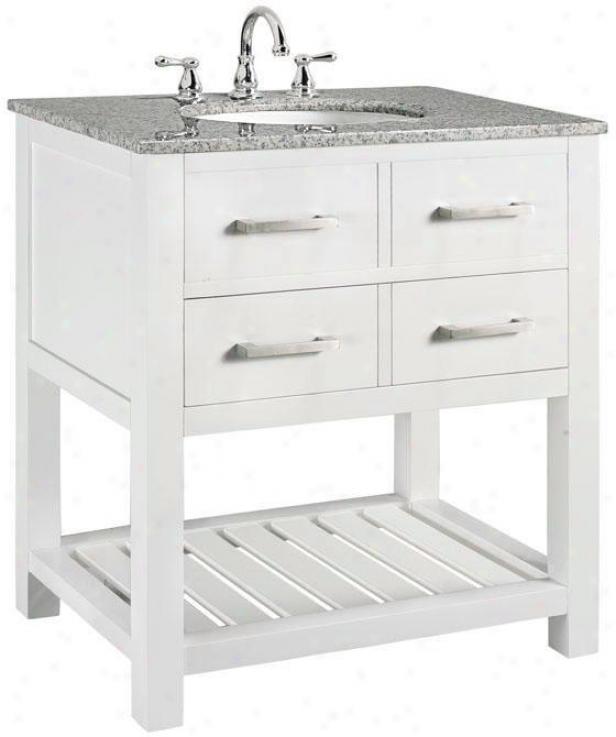 """""""fraser Bathroom Vanity - 35""""""""hx31""""""""w, White"""""""