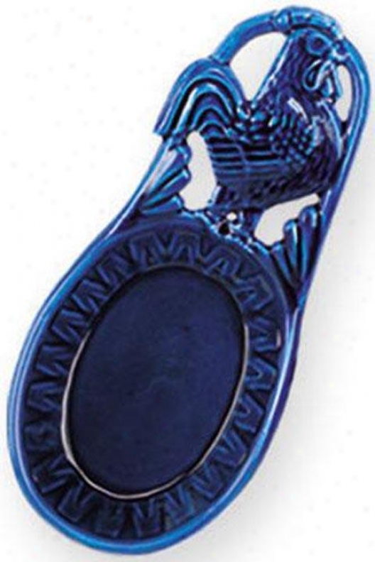 """""""french Country Rooster Spoon Rest - 8""""""""l, Blue"""""""