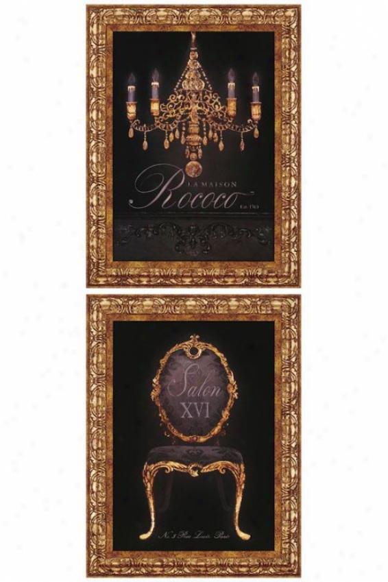 French Elements I Wall Art - Set Of 2 - Set Off 2, Black