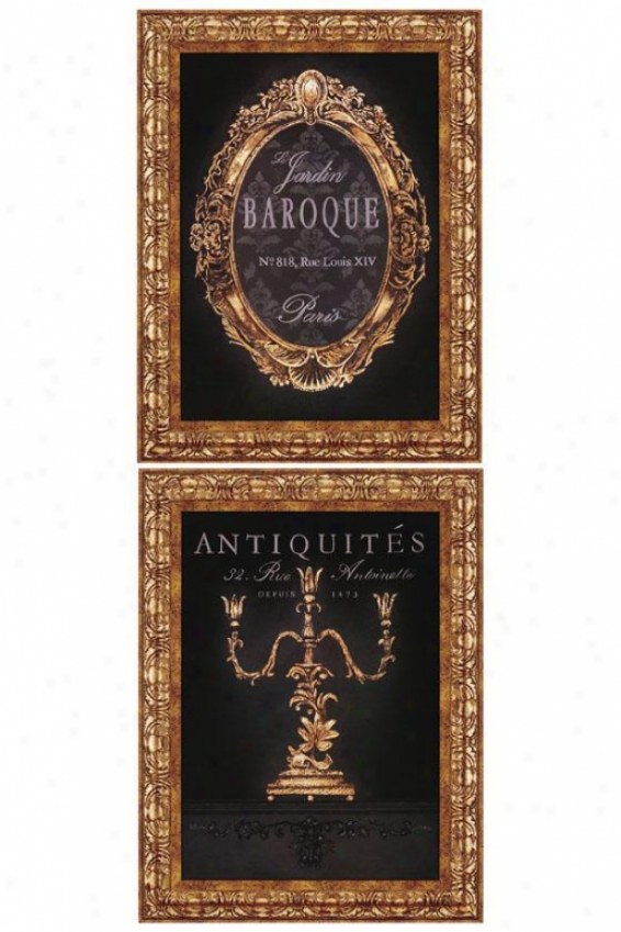 French Elements Ii Wall Art - Set Of 2 - Place Of 2, Black