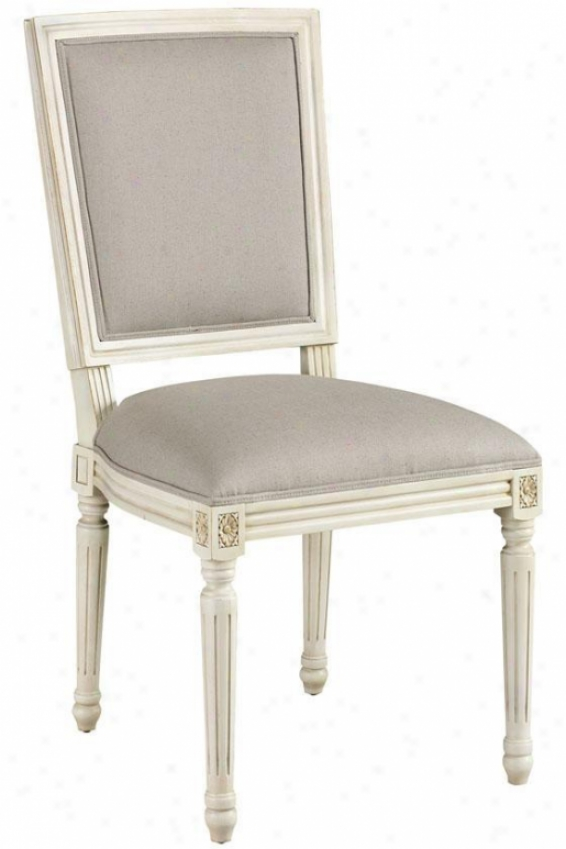 French Side Chair - Square Back, White