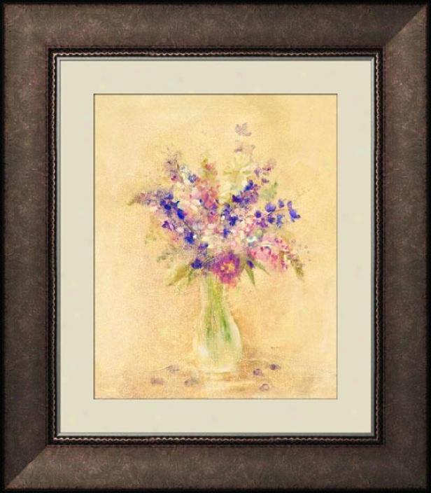 Fresh Bouquef I Framed Wall Art - I, Trdnl Brl Wd Fm