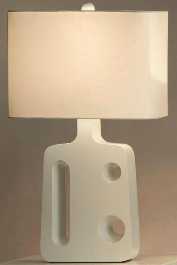 """friend Standing Table Lamp - 26h X 16""""w, White"""