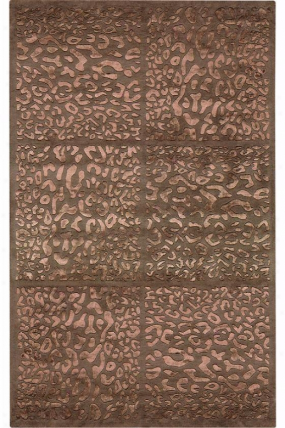 """frontenac Area Rug - 5'5"""" Round, Brown"""