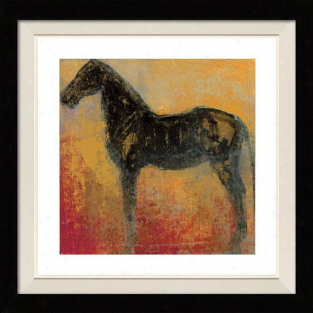 Furioso Ii Framed Wall Art - Ii, Floated Black