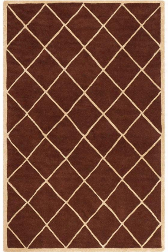 """gable Area Rug - 5'5"""" Round, Brown"""