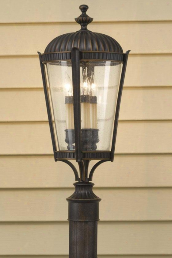 """gables Outdoor Lamp Post - 22.75""""h X 10""""w, Grecian Bronze"""