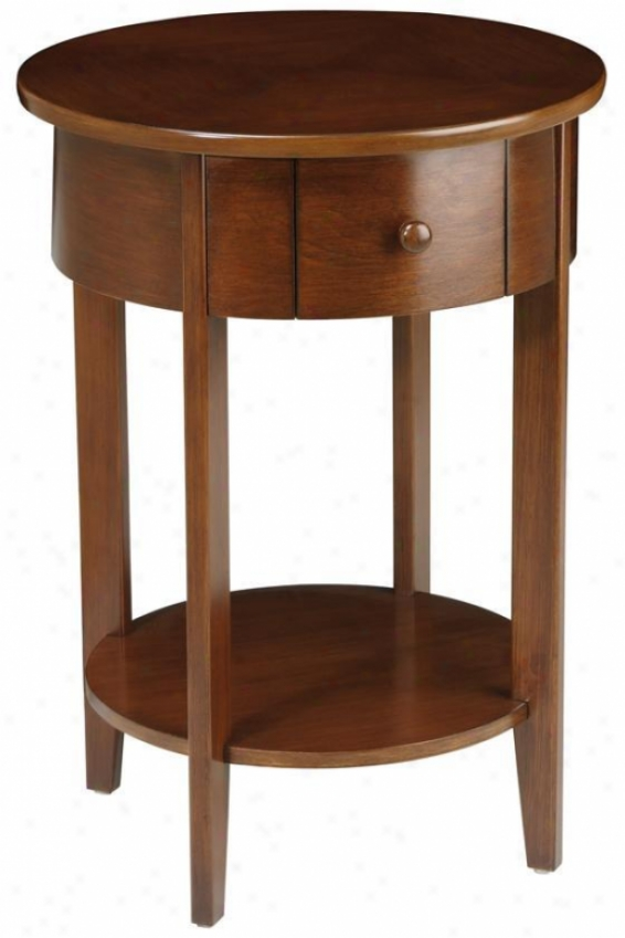 """""""gallatin Accent Table - 28""""""""hx20""""""""d, Brown Wood"""""""