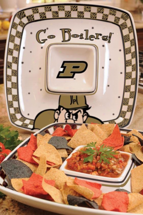 Gameday Chip And Incline Platter - College Teams, Dismal