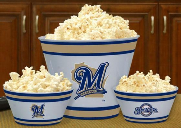 Gameday Mlb Popcorn Bowlx - Mlb Teams, Milwaukee Brwrs
