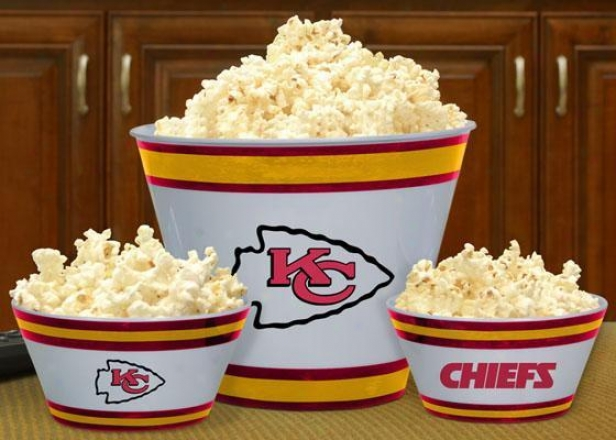 Gameday Nfl Popcorn Bowls - Nfl Teams, Kansas Cty Chfs