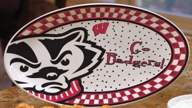 Gameday Platter - College Teams, Red