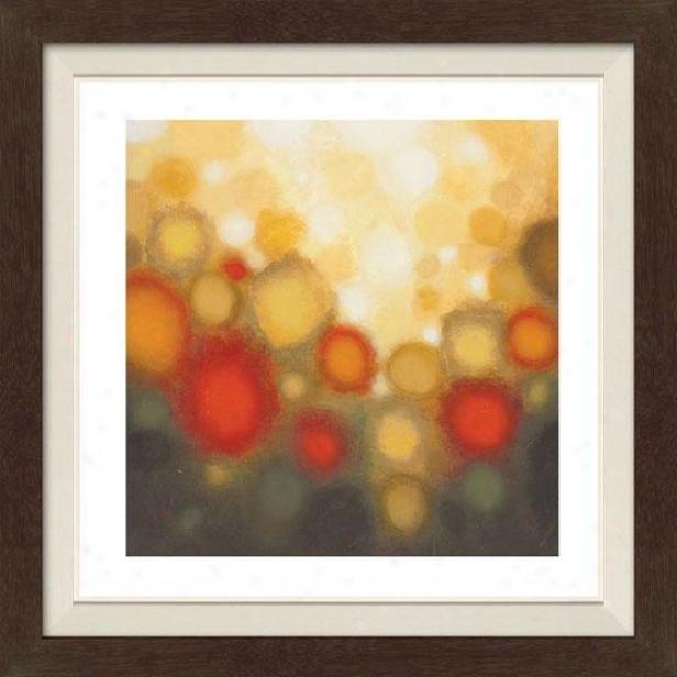 Garden Partu Ii Framed Wall Art - Ii, Fltd Espresso