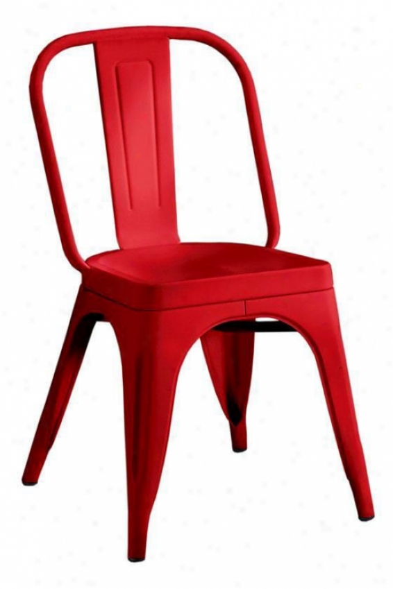 """garden Side Chair - 33.5""""hx18""""w, Red"""