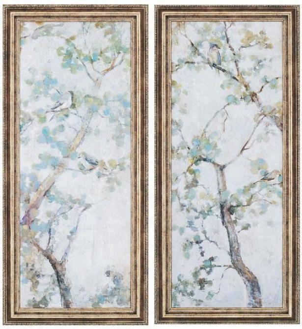 """""""garden Wall Art - Set Of 2 - 42""""""""hx19""""""""w,_Blue"""""""