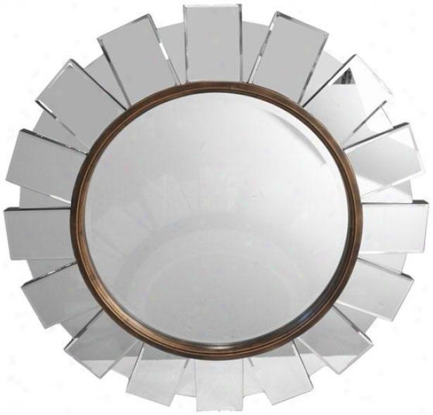 """""""garrison Multi-pane Mirror - 36""""""""round, Clear W/bronze"""""""