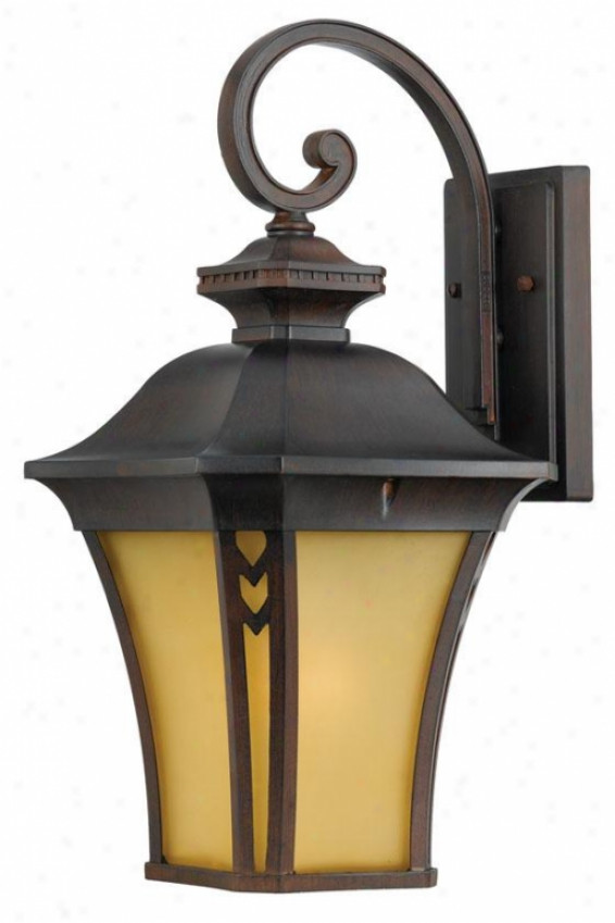 """""""gatehouse 21""""""""h Large Outdoor Wall Lantern - Large/21""""""""h, Coral"""""""
