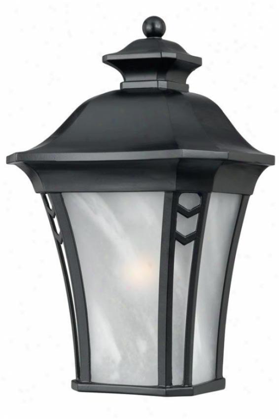 Gatehouae Mean Outdoor Wall Lantern - Means, Black