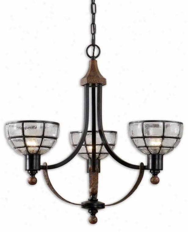 Gelati Chandelier - 3 Light, Antiqued Copper