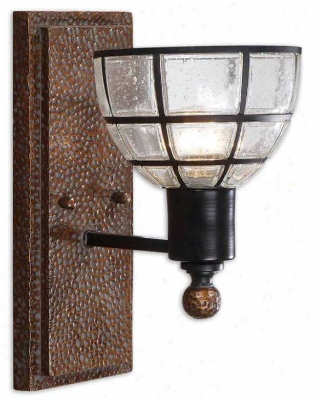Gelati Wall Sconce - 1 Light, Antiqued Cipper