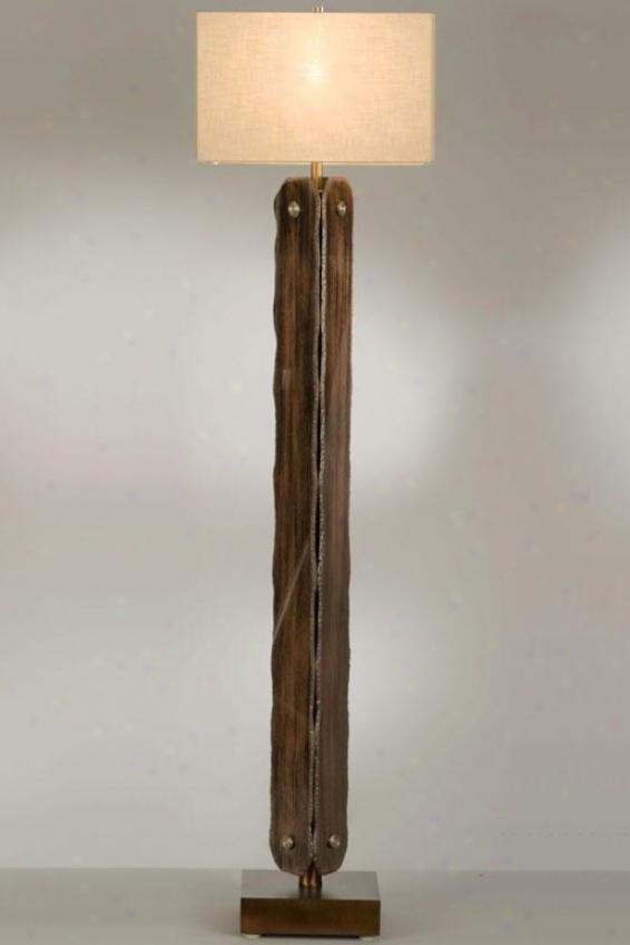 """""""gemstone Floor Lamp - 59hx15""""""""round, Brown"""""""