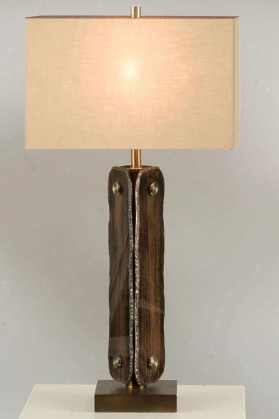 """gemstone Table Lamp - 30hx15""""diameter, Brown"""