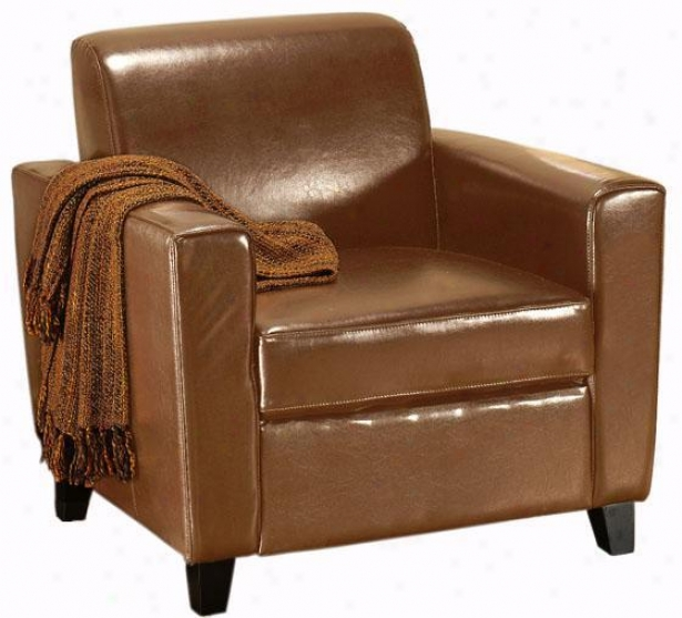 """geneva Leather Arm Chair - 32""""hx35""""w, Brown"""