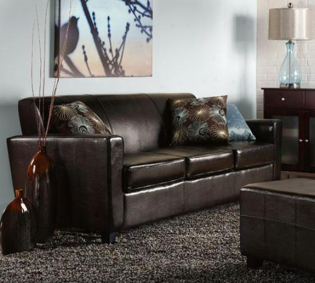 """geneva Leather Sofa - 32""""hx79""""w, Brown"""