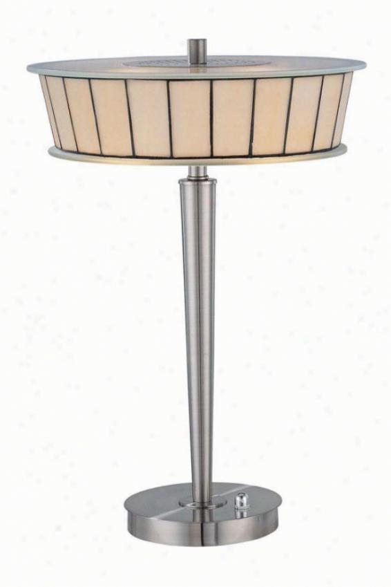 """genika Table Lamp - 20""""h X 13.5""""w, Pol Stl/cream"""