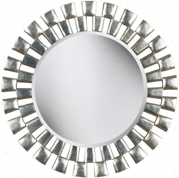 """gilbert Wall Mirror - 36""""d, Silver"""