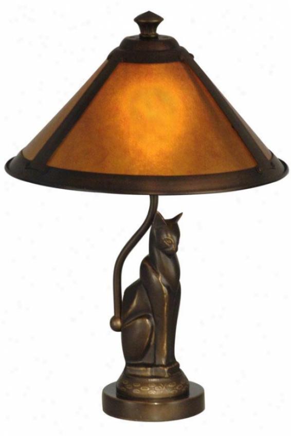 """ginger Mica Accent Lamp - 17h X 10""""d, Bronze"""