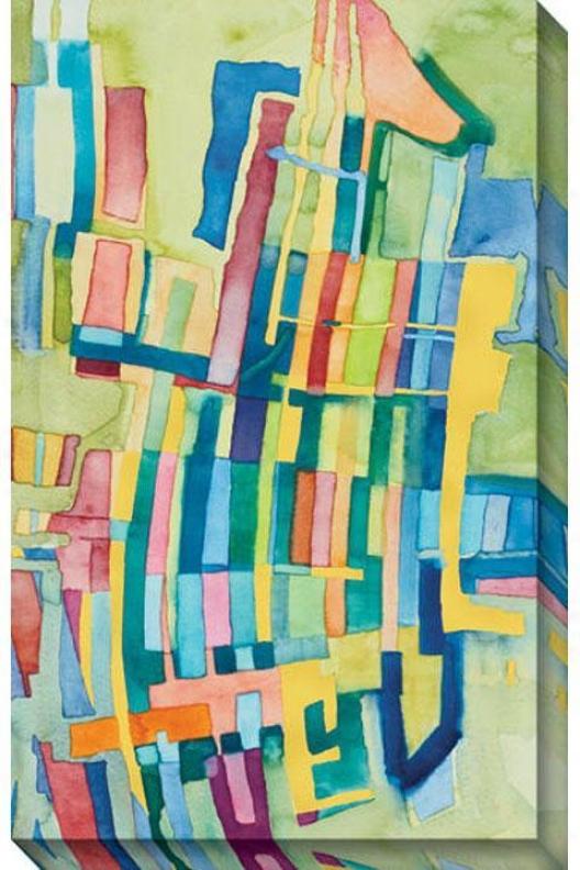 """giraffe Canvas Wall Art I - 31""""hx48""""w, Multi"""
