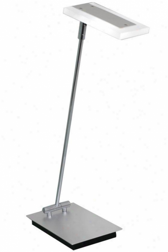 """gleam Led Desk Lamp - 4.75""""wx20""""h, Silver"""