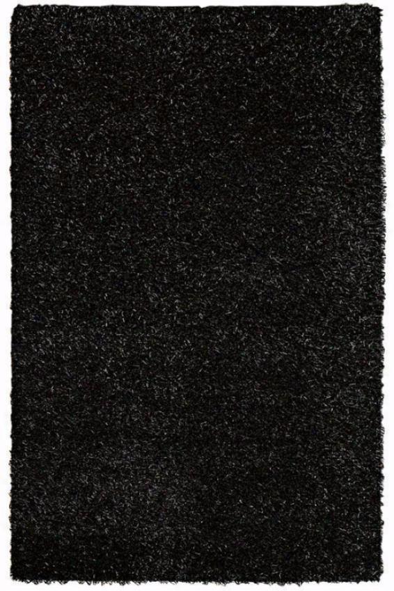 Glitzy Area Rug - 3'rounnd, Black
