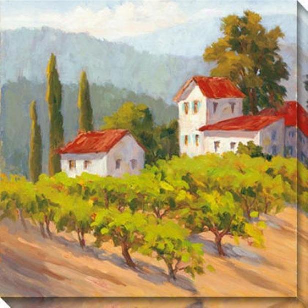 Glorious Estate Ii Canvas Wall Art - Ii, Green