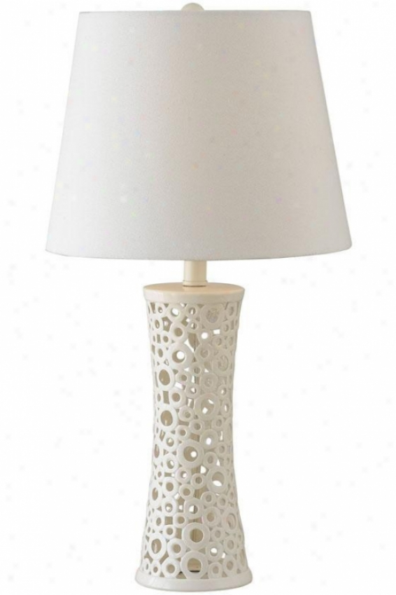"""glover Table Lamp - 26""""h, Gloss White"""