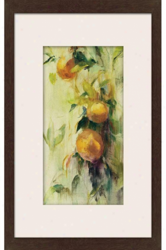 Golden Fruit Learn Iii Framed Wwll Art - Iii, Matted Espresso