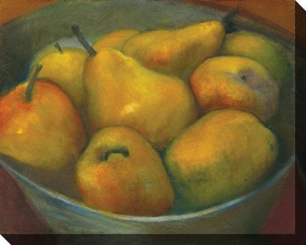 """golden Pears Canvas Wall Art - 46""""hx36""""w, Green"""