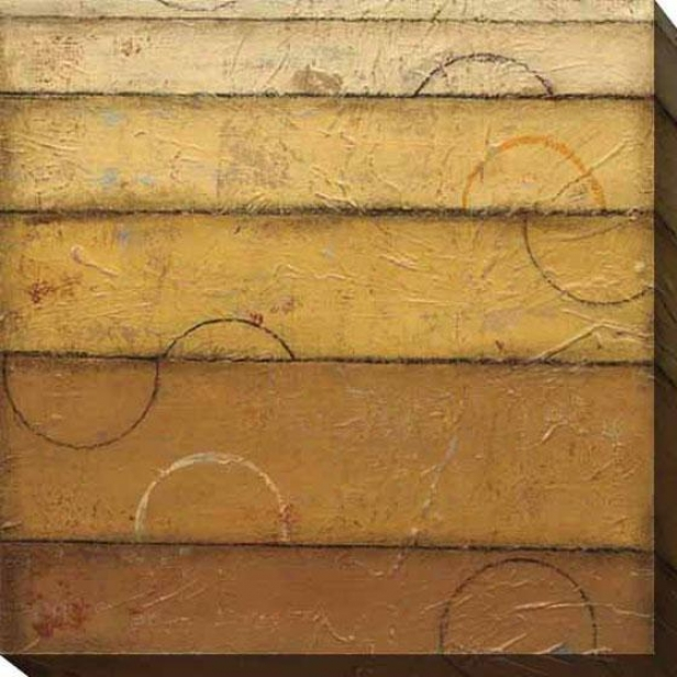 Golden Spectrum Ii Canvas Wall Art - Ii, Brown